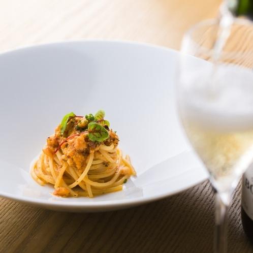【冬夕食例】魚介ラグーソースのキタッラ
