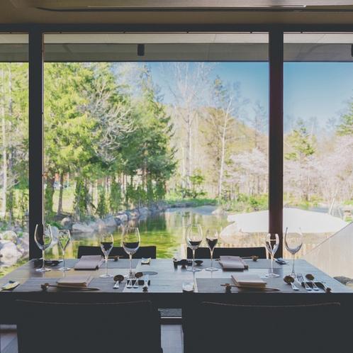 【レストラン】春の景色