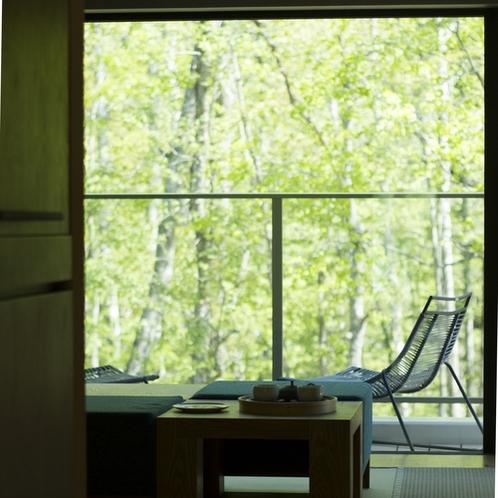 【藍 バルコニー】春・お部屋からの景色