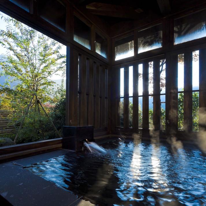 客室専用風呂一例:山吹