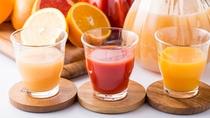 ジュースは毎朝3種類をご用意しています