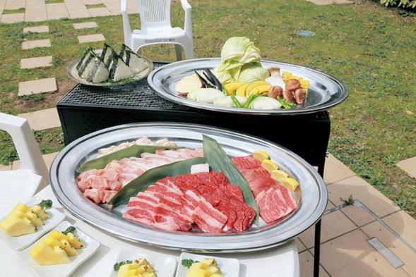 【手ぶらdeBBQ】ジューシーな肉と旬の野菜!自然に囲まれてBBQ♪4名様以上限定!Wi-Fi 完備