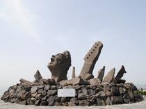 桜島・叫びの像