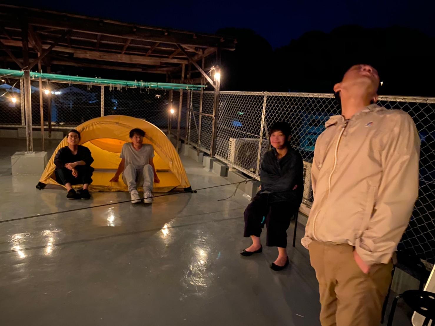 屋上キャンプ