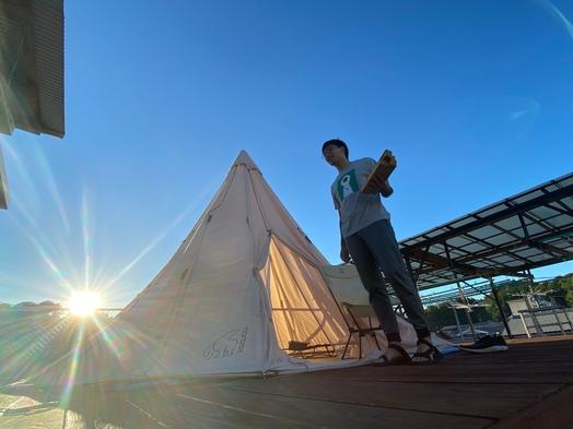 【夕食付】屋上キャンプ場!星を見ながらゆったりと