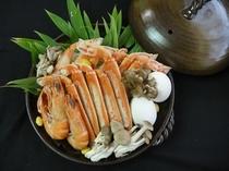 蟹宝楽焼(2名盛)