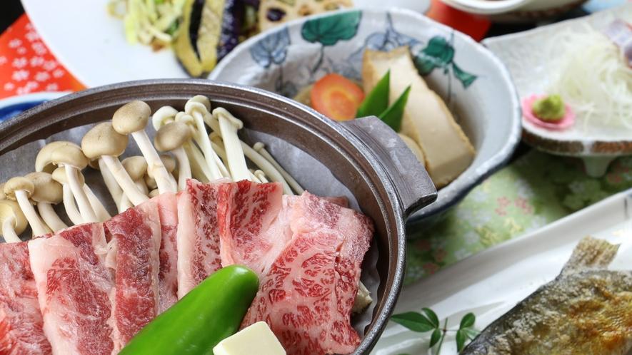【グレードアップ】柔らかい国産牛を陶板焼きで♪