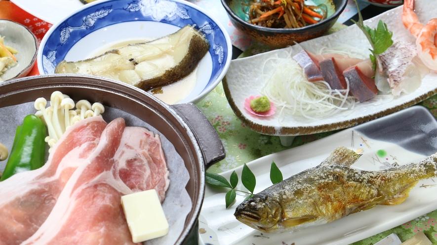 【満腹】お魚もお肉も楽しめる満腹コース