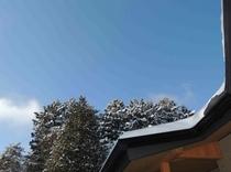 施設 テラスから見た冬空