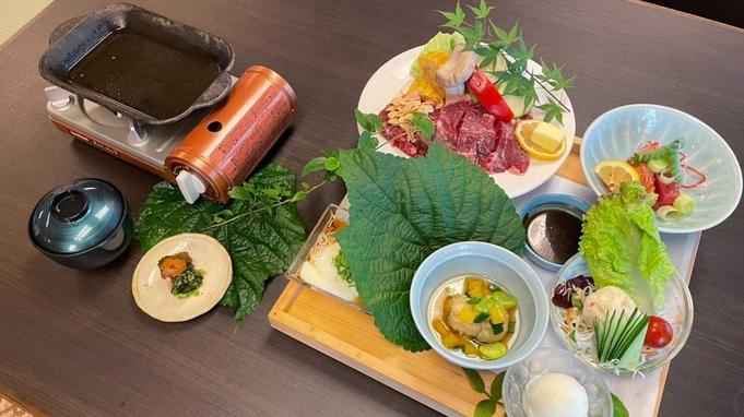 【夏旅応援!最大30%OFF】ゆうわステーキ膳!牛サーロイン200gをご自身の焼き加減で(1泊2食付