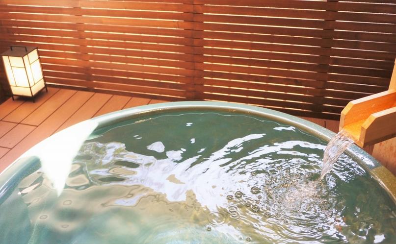 露天風呂付ツインルーム◆森林浴を味わえる露天風呂