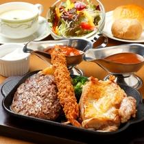 御夕食/Dinner◆3種のメインから選べるグリル定食プラン(イメージ)