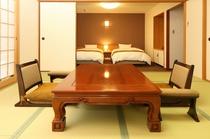 和洋室(ツインベッド+10畳)/Twin Room and Tatami room