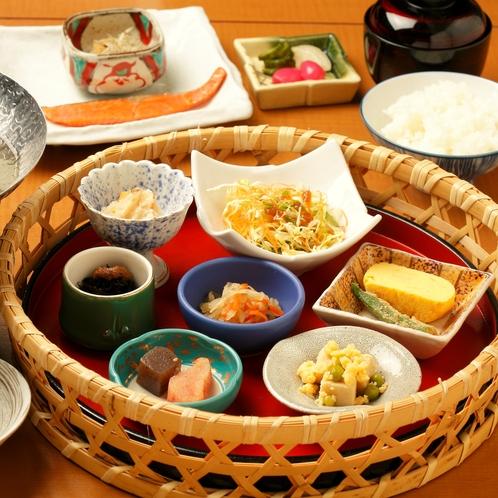 御朝食/Breakfast◆からだに優しいコダワリ小鉢の籠盛り朝ごはん(イメージ)