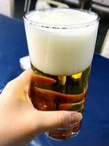 冷えた生ビール♪