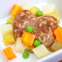 【わんちゃんのごはん】和牛ハンバーグ野菜添え