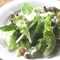 オーナーママの創作ディナー一例。生野菜チーズかけ。