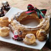 オーナーママの手作りケーキ。クリスマスにシューケーキを作りました♪