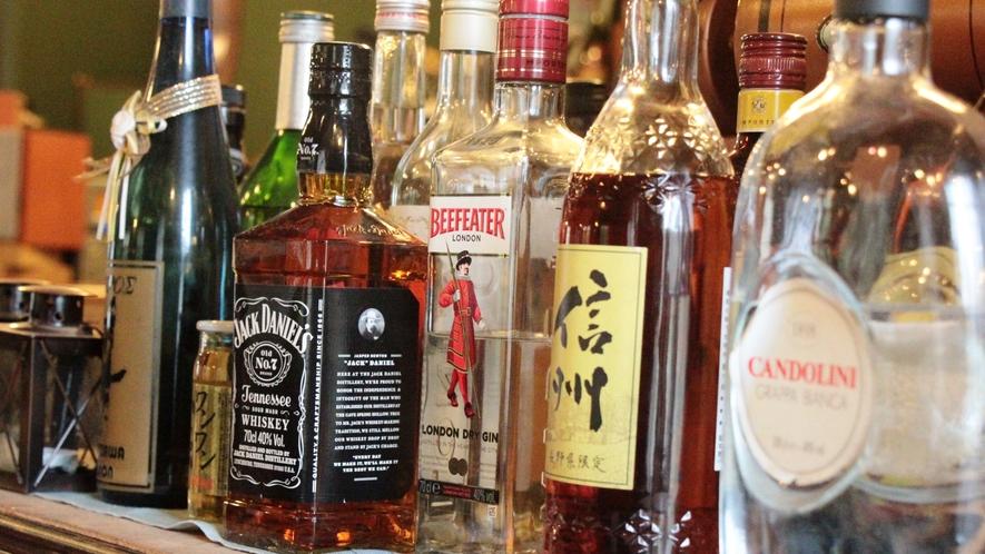 アルコールも多数取り揃えております。