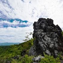鬼押出し園。浅間山の大噴火で流れ出した溶岩の芸術が楽しめます。