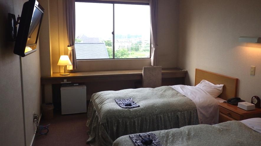 *【ツインルーム≪禁煙≫例】ベッド派の人には嬉しいお部屋