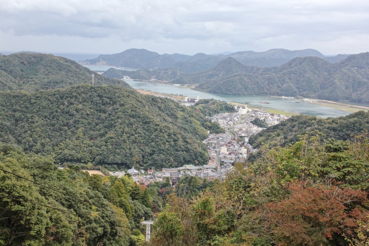 大師山から見た城崎