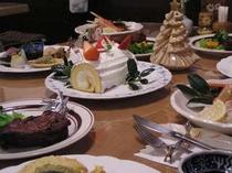 34.クリスマスディナーとケーキ