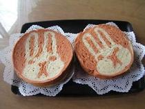 33.今年の干支のウサギパン…人参とジャガイモの入った米パンです♪