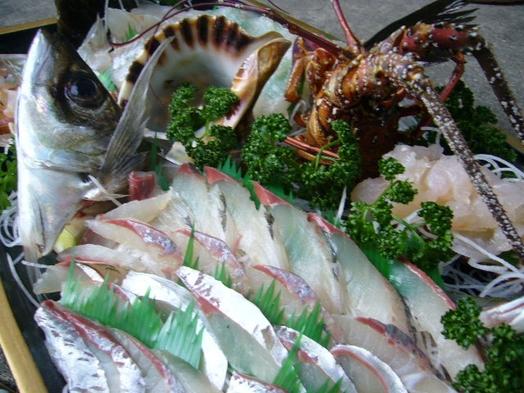 【祝い魚】伊勢海老1人1尾・地魚3種舟盛・地魚煮付け島ごはんぷらん