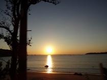 深江海岸の夕日