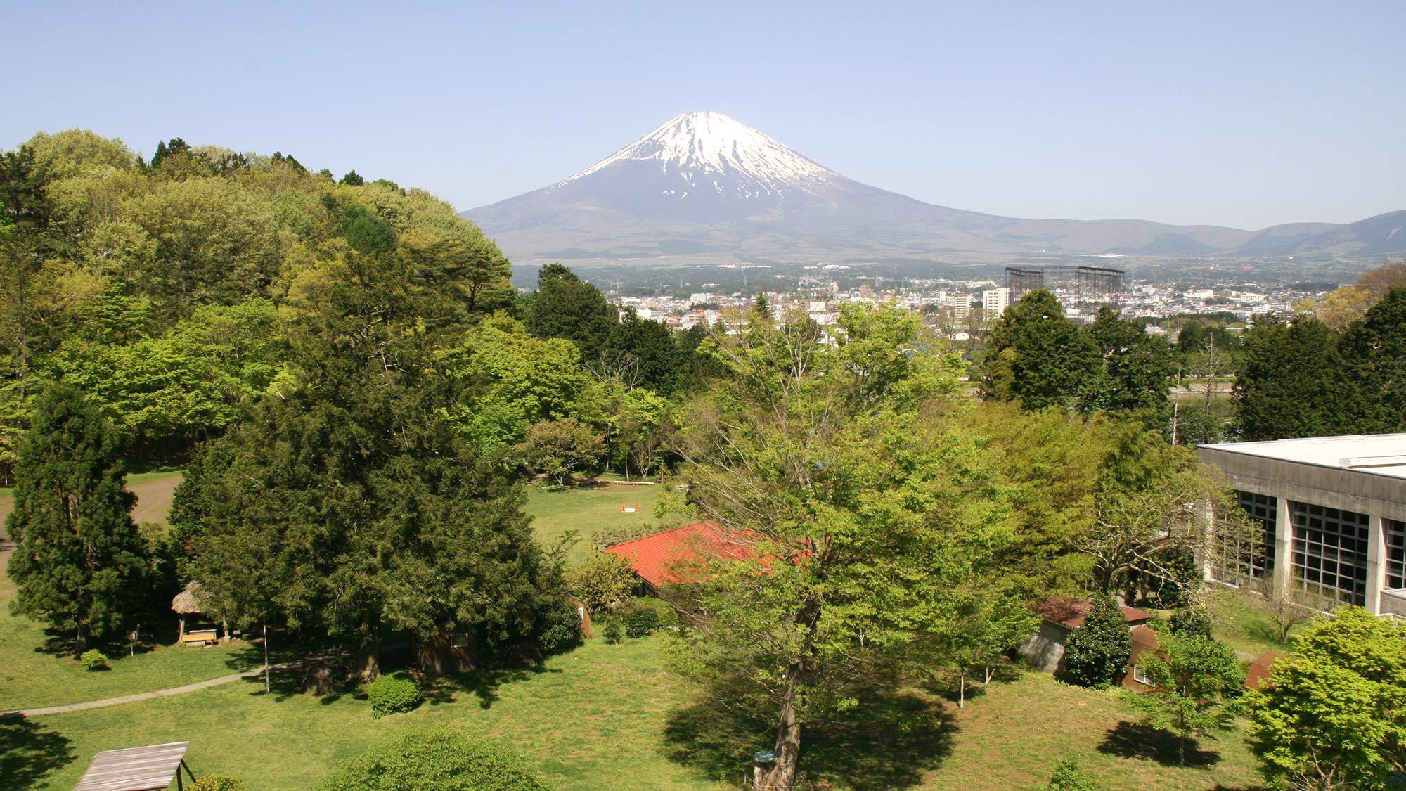 ・屋上から富士山が見えます