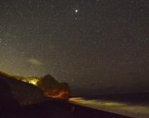 夜の横間海岸をお散歩
