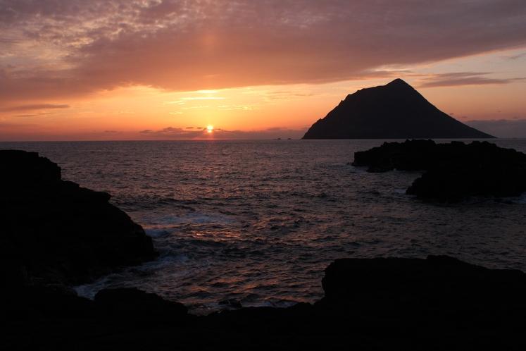 南原海岸の夕日