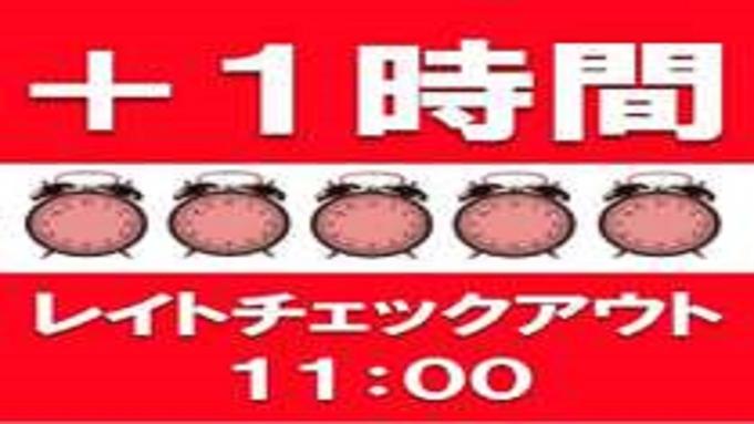 【楽天トラベルセール】ゆっくり過ごしたい朝に☆11時レイトアウトプラン(素泊り)