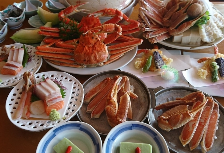 ずわい蟹1枚付カニづくし