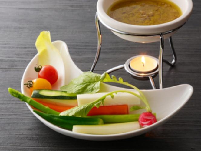 バーニャカウダー(夕食一例)/レストラン