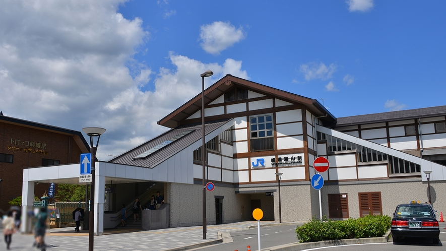 JR嵯峨嵐山駅南口よりホテルまで徒歩1分の好立地