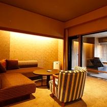 【特別フロア】 専有露天風呂付客室 TypeE (禁煙タイプ一例※客室により異なります)