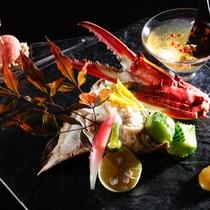 秋の味覚・渡り蟹を土佐酢ジュレでお召し上がりください。(お料理イメージ)