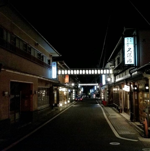 夜の旅館街