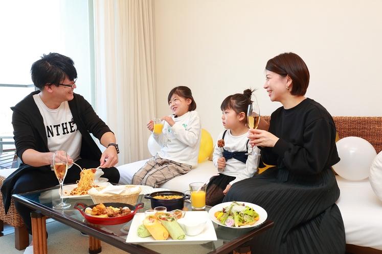 家族みんなでほっこり夕食♪