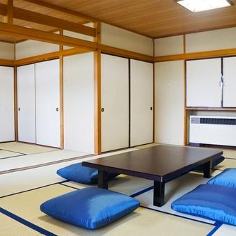 【禁煙】限定4室の広々和室!!2間あわせて14畳