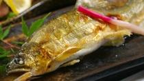 【グレードアップ会席】普段はあまり食べられない鮎の塩焼き