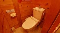 ウォシュレット付きトイレです【6人用コテージ】