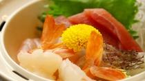 【グレードアップ会席】刺身4種盛・旬な魚を使用しています