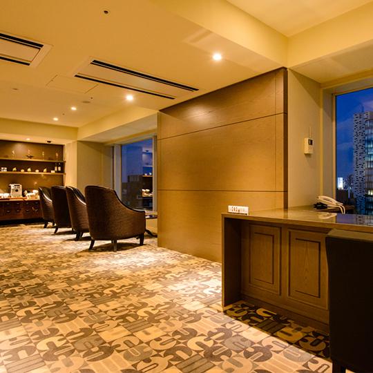 【13階クラブラウンジ】エグゼクティブ・スイートをご利用のお客様専用のクラブラウンジです。