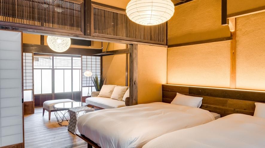 【VMGグランド・402】縁側からは竹田城跡を眺める、隠れ屋的空間をお楽しみいただけるお部屋。