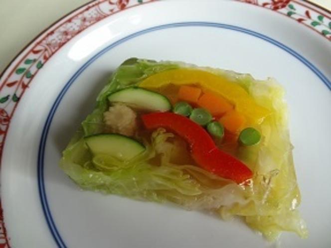精進懐石 野菜のテリーヌ