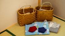 *【アメニティ】ヘアブラシ・歯ブラシ・男性用かみそり・浴衣、バスタオル・フェイスタオル