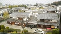 *【新館】和室10畳:お部屋からの眺め。目の前は倉敷美観地区になります。